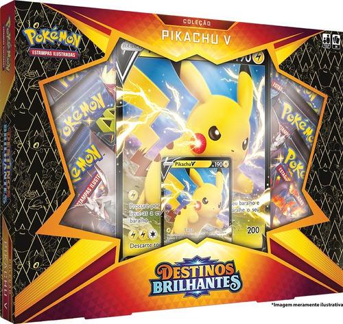 Card Game Pokémon Box Destinos Brilhantes Pikachu V Copag