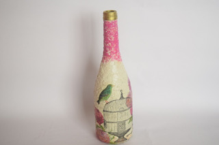 Botella Jaula Decorativa, Vintage, Retro.