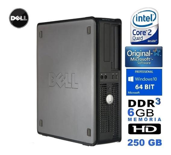 Desktop Dell Intel Core 2 Quad Q9400/2.66ghz 6gb 250gb/winpr