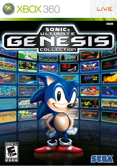 Sonic Ultimate Genesis Collection Xbox 360 Mídia Físca Novo