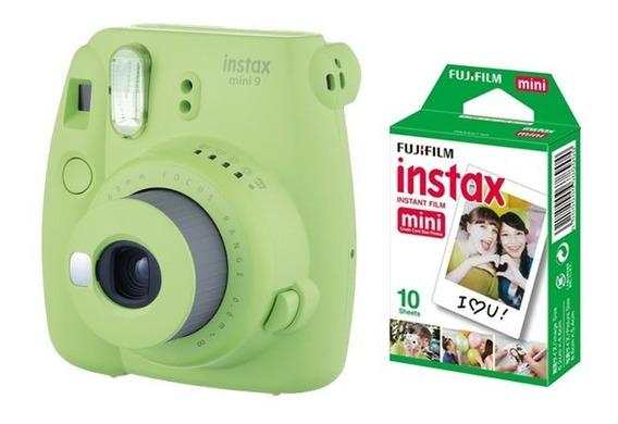 Cámara Fujifilm Instax Mini 9 Lime Green + Pack 10 Películas