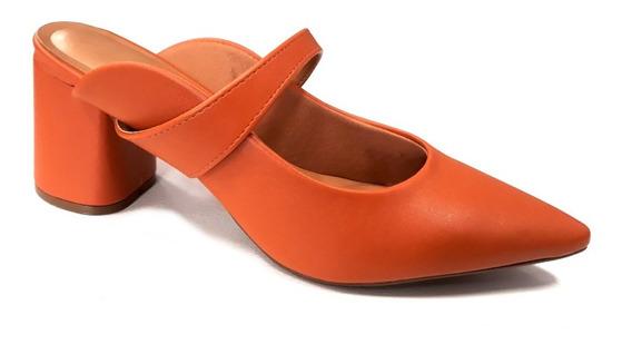 Zapato Vizzano Mujer Zueco Mule Taco 7cm Talon Descubierto