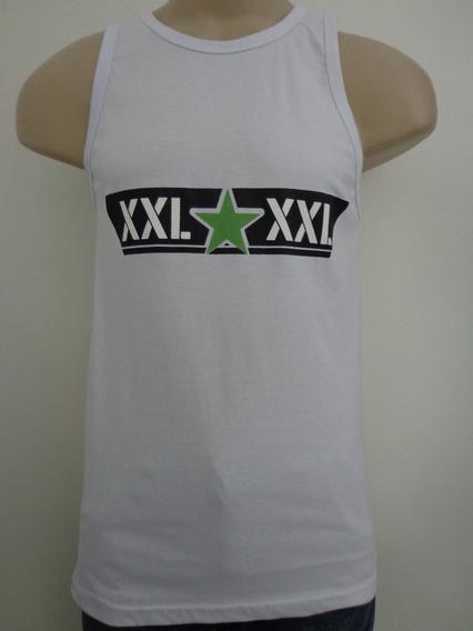 Regata Xxl 55 Tam. P Branca Estrela Rap Hip Hop Crazzy Store
