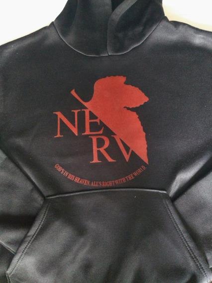 Hoodie Nerv Evangelion Anime Sudadera Con Gorro
