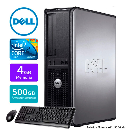 Cpu Usado Dell Optiplex Int C2quad 4gb Ddr3 500gb Brinde