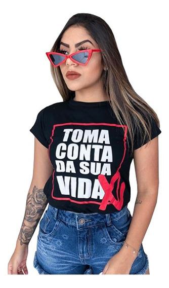 Kit10 T-shirts Blusa Feminina Frases Roupas Atacado Revenda