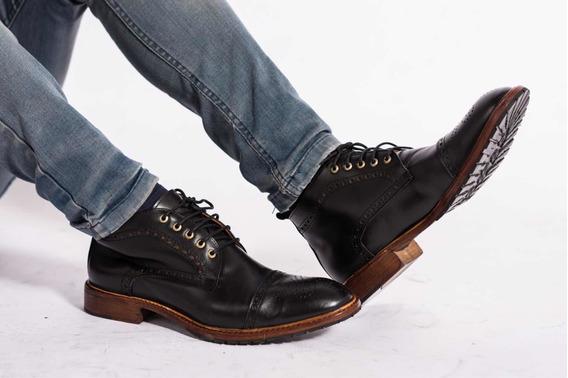 Zapato Tipo Botita Para Hombre , Elegante , Moderno