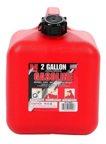 Bidón 2 Galones Para Gasolina Midwest Can 2200 Rojo