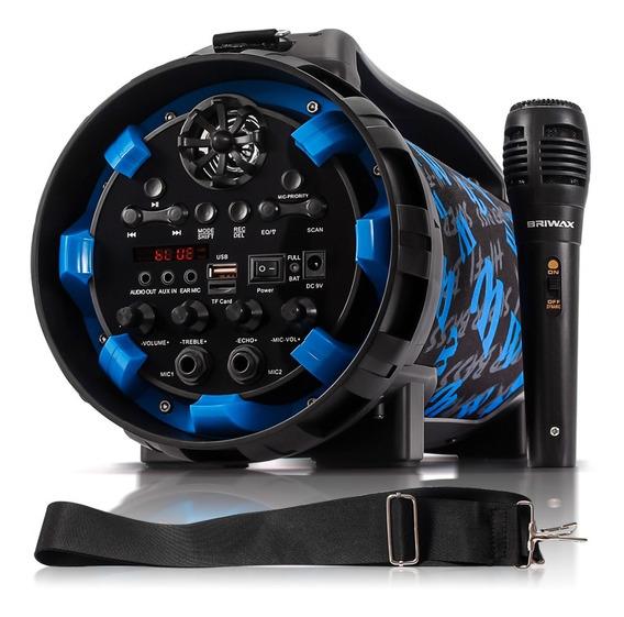 Caixa De Som Bluetooth Amplificada Portátil Radio Fm Usb Aux