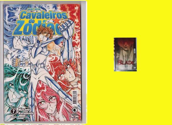 2 Revistas Manga .cavaleiros Do Zodiaco E Blade Frete Gratis