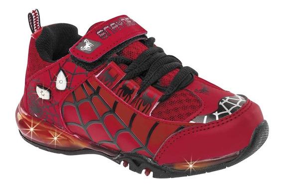 Tenis C/ Luces Spider Man Snayder 394 Rojo 15-21 63220 T3