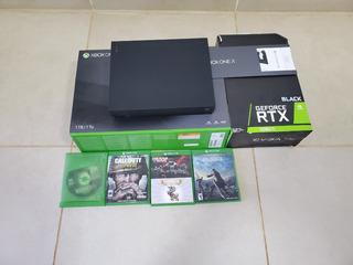 Consola Xbox One X + 6 Juegos!