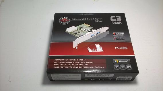 Adaptador Pci-e Para Usb 3.0 (2) Pu-230l