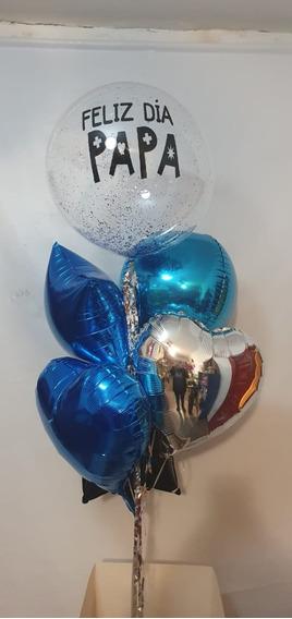 Kit Bouquet De 6 Globos, 1 Personalizado , Inflados C/helio