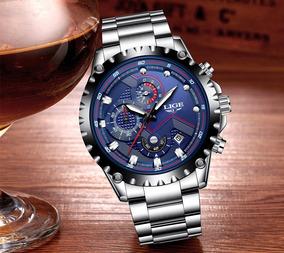 Relógio Masculino Lige 9821 Original Cronógrafo Funcional