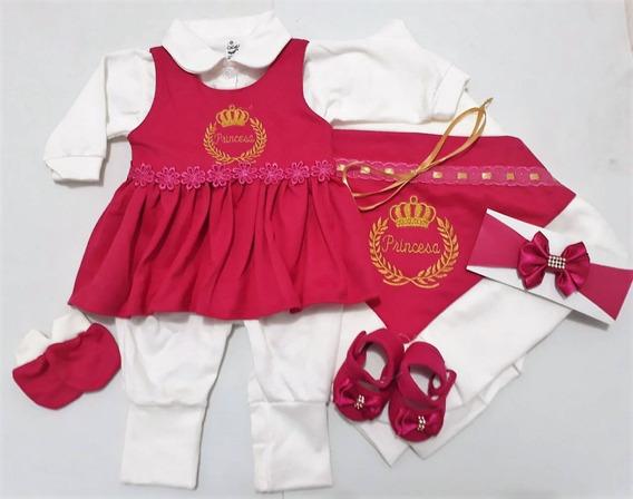 Saída De Maternidade 6 Peças 100% Algodão - Feminino