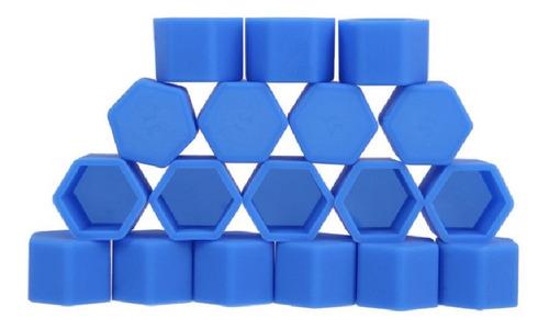 Imagen 1 de 5 de Cubre Tuerca Goma Azul 17 Mm