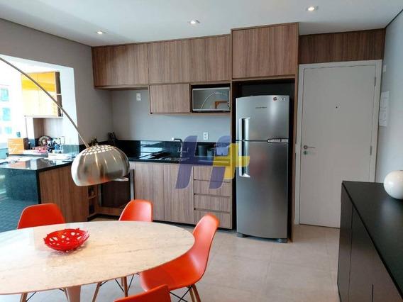 Apartamento Com 1 Dormitório À Venda, 42 M² Por R$ 690.000 - Brooklin - São Paulo/sp - Ap0745