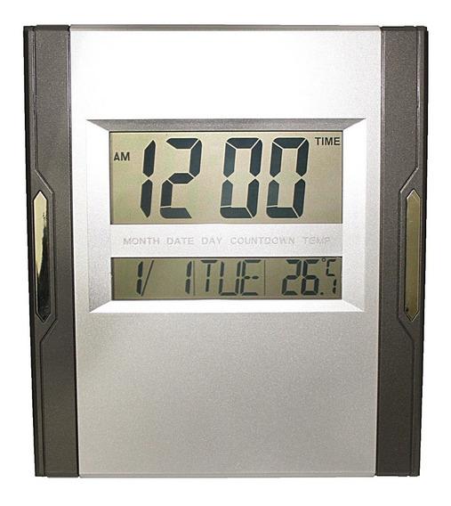 Relógio Parede Mesa Digital Termômetro Calendário Alarme
