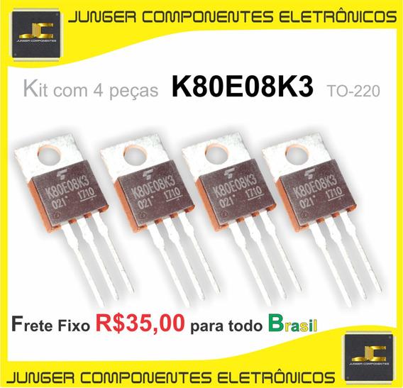 K80e08k3 - Tk80e08k3 - K80e08k3 - To-220 - Kit Com 4 Peças