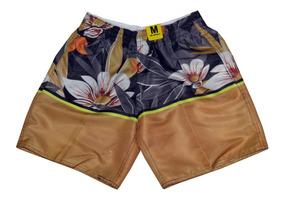 Kit C/ 3 Short Bermuda Masculino Moda Praia Florido Summer