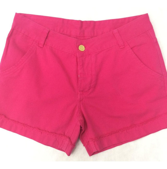 Revanche Short Sarja Rosa 32970 Novo Com Tags