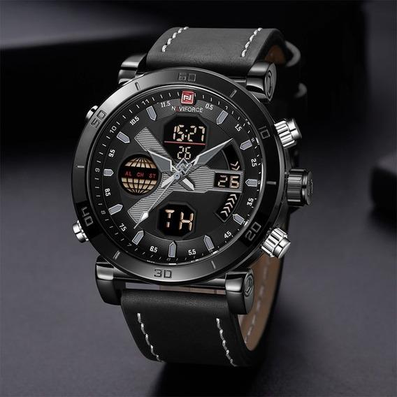 Relógio Masculino Naviforce Nf9132 Digital/analógico Couro
