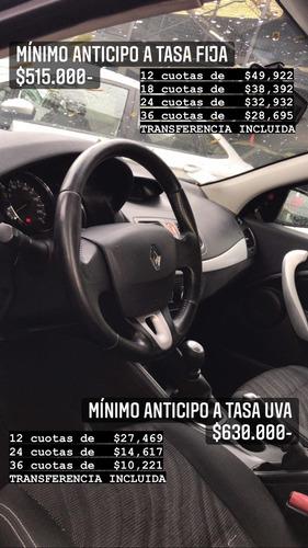 Renault Fluence 2.0 Dynamique 2012 / Anticipo $515.000-