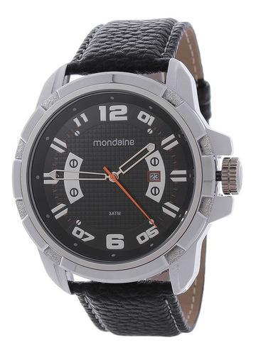 Relógio Preto Masculino Mondaine Analógico 24965