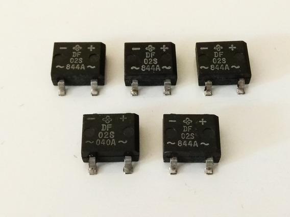 Kit 05 Ponte Retificadora Df02s / Df 02s 200v 1,5a
