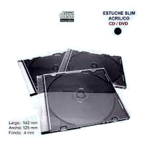 100   Estuche Acrilico  Grado A Cd - Dvd