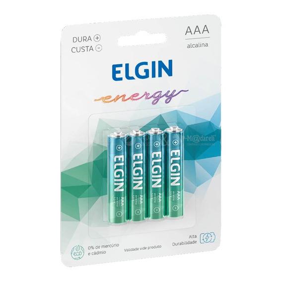 Pilha Palito Alcalina Energy Aaa 4 Unidades - Elgin 1 Pack