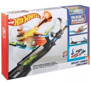 Pista Hot Wheels Track Builder Desafio Lançador De Foguete