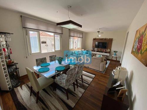 Imagem 1 de 11 de Apartamento Com 2 Dormitórios À Venda, 107 M² Por R$ 470.000,00 - Boqueirão - Santos/sp - Ap7908