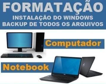 Imagem 1 de 1 de Formatação De Pc E Notebook