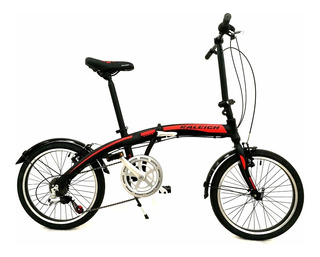 Bicicleta Raleigh Plegable Straight Curve Rodado 20 Aluminio