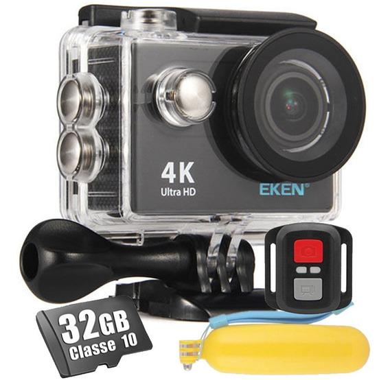 Kit Câmera Eken H9r 4k Wifi Fullhd + 32gb + Bastão Flutuante