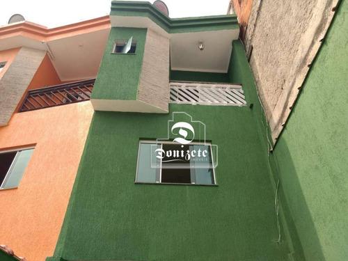 Sobrado Com 2 Dormitórios À Venda, 102 M² Por R$ 280.000,00 - Jardim Santo André - Santo André/sp - So3639