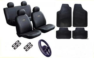 Kit Capas Bancos Couro Tapetes Volante P/ Corsa Hatch