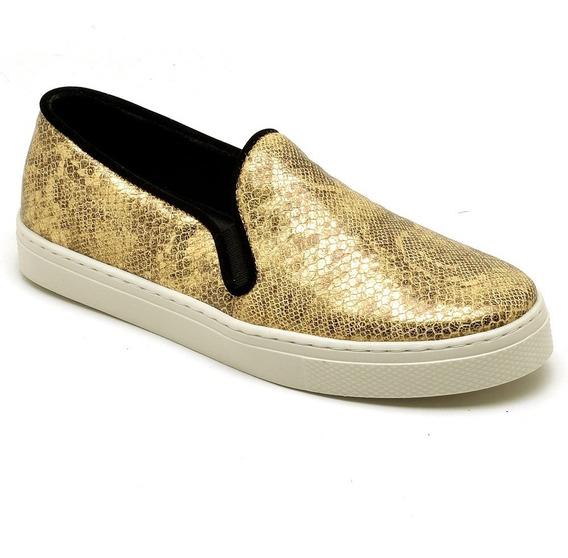 Sapato Tênis Sapatênis Feminino Couro Confortável Moda