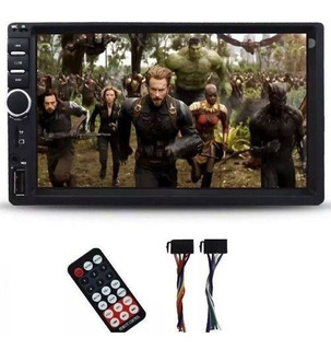 Dvd 2 Din Multimidia Bluetooth Usb Sd Tela 7 Hd Espelhamento