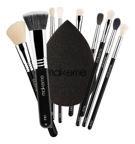 Imagem 1 de 1 de Kit Completo Black Edition - Pincéis De Maquiagem