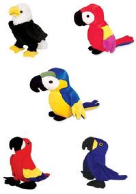 5 Aves De Pelucia Arara Papagaio Aguia Antialérgicas Unissex