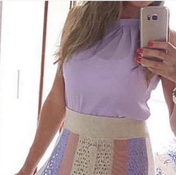 Kit Três Blusas Laço Lançamento Blogueira Instagram Social