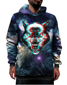 Blusa Lobo 3d Galaxia Tumblr Wolf Cosmos Animal Star Leão Up