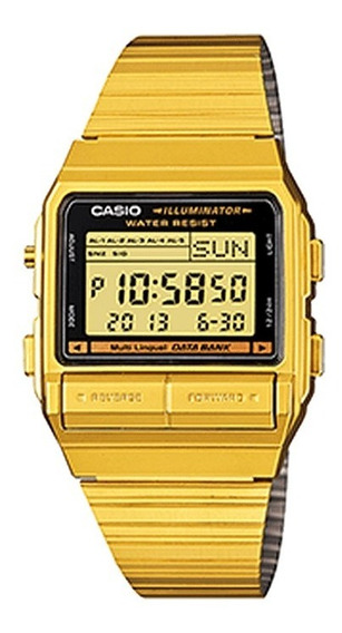 Relógio Casio Original Unissex Vintage Data Bank Db-380g-1df