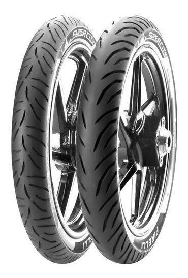 Par Pneus Pirelli 80/100-18 + 100/90/18 Fazer150 Factor