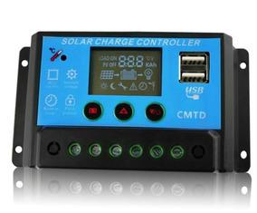 Controlador Carga Solar Painel 20a Azul 20a 12/24v