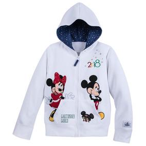Hoddie Mickey Mouse Disneyland Minnie Mouse Bordada Castillo