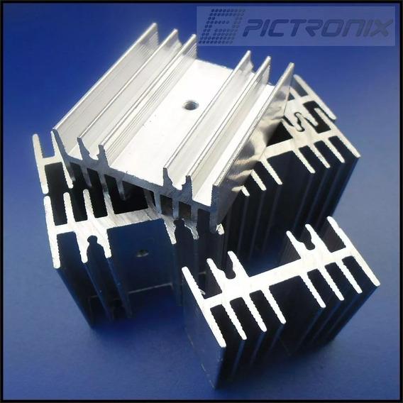 16 Peças Dissipador P/ Transistor 35mm X 40mm X 20mm Furo M3